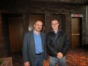 Professor Chumachenko and Salvatore De Sando model for a photo