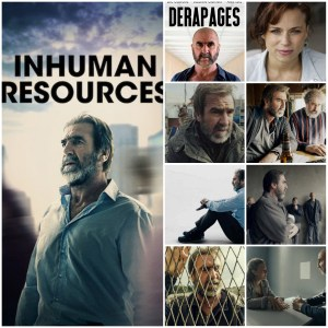 Photo montage of Inhuman Resources (Derapages). Left side main photo is Netflix poster for the show. 8 other photos show scenes from the show.