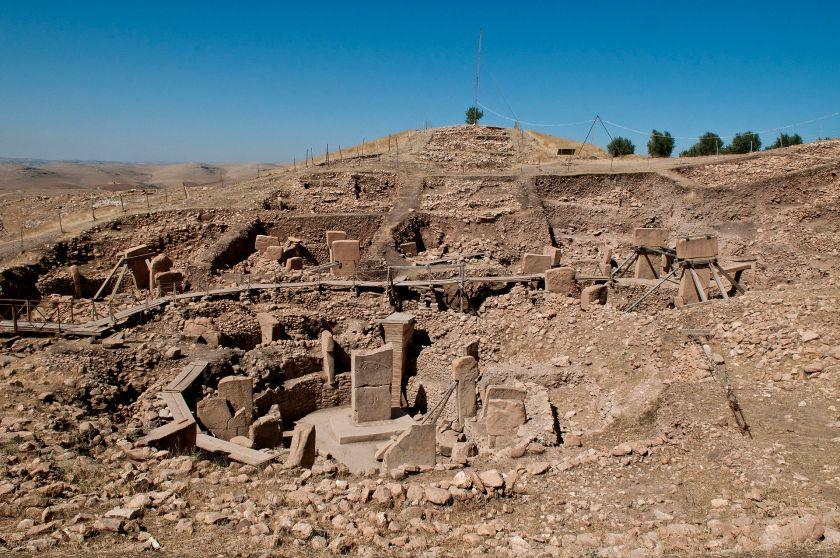 Photo of the excavated ruins of Göbekli Tepe