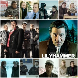 Mage shows montage of main poster for Lilyhammer and other scenes from the show around it.