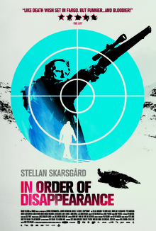 Image shows English language poster for In Order of Disappearance starring Stellan Skarsgård