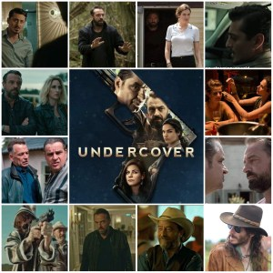 Image shows photo montage of scenes from Undercover. Central photo is the poster for the show.