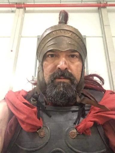 Dan Bradford in Roman legionary costume