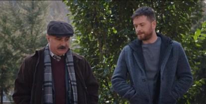 A scene from 50m2: left is Muhtar (Cengis Bozkurt) right Shadow/Adem (Engin Öztürk)