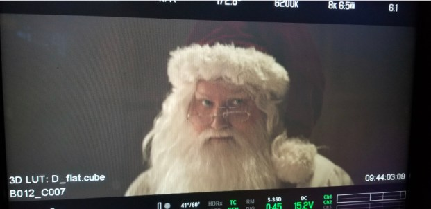 Brian Caspe as Santa in an Audi commercial with Craig Gillespie (I, Tonya)