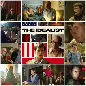Photo montage of scenes from The Idealist. Central image is the theatrical poster for the film