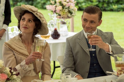 Esben Smed (right) as Per and Katrine Greis-Rosenthal (left) as Jakobe in A Fortunate Man