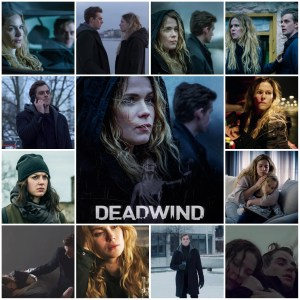 A photo montage of scene from Deadwind season 2. Central image is the theatrical poster for season 2 of Deadwind.