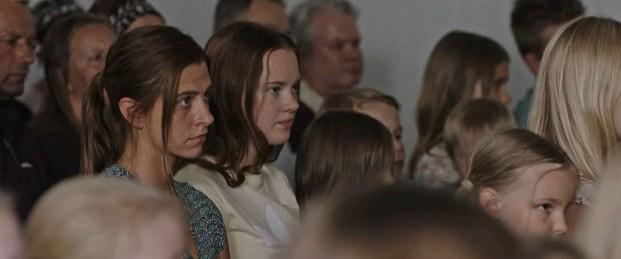 Kreeta Salminen (Leena Niemitalo) left and Saimi Räty (Ida Niematalo) right in a scene from All the Sins
