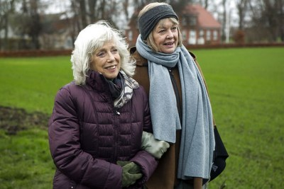 Ghita Nørby (left) as Esther and Viggo Bro (right) as Lisbeth in a scene from Silent Heart