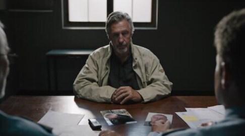 Bjørn Skagestad as Hans Olaf in a scene from Borderliner