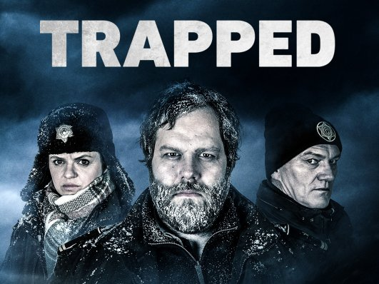 English language poster for the show Trapped S1