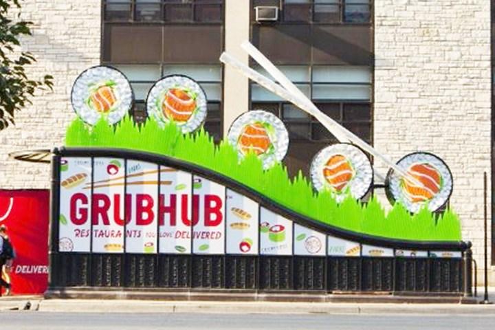 Intersection creates rolling Grubhub installation