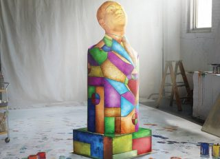 Busts of Dr. King form the campaign's centerpiece