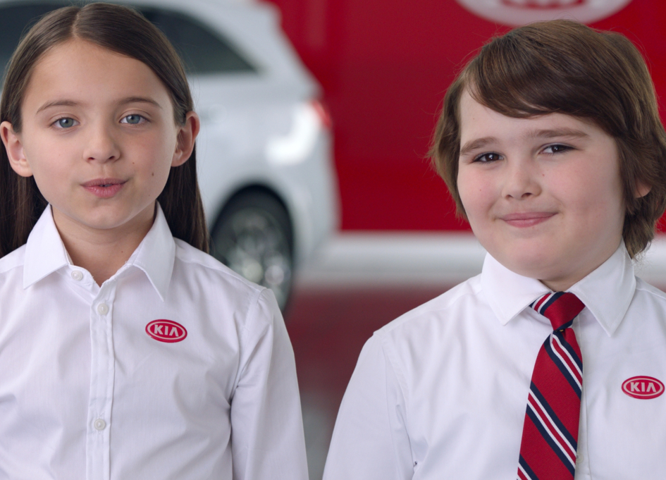 Kids sell cars in Kia Motors Summer Sales campaign