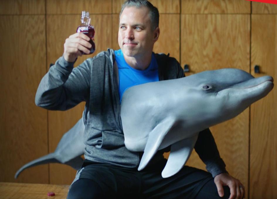 POM Wonderful is loving life with impaled dolphin