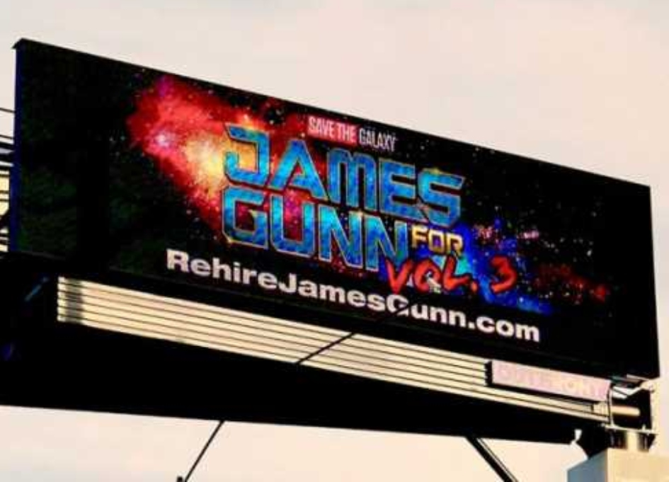 Fans pay $4K to buy billboard supporting James Gunn