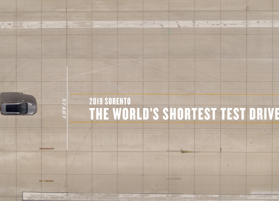 2019 Kia Sorento takes world's shortest test drive