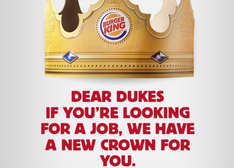 Burger King offers jobs to Royal Couple