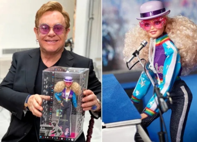 The bitch is back – as an  Elton John Barbie