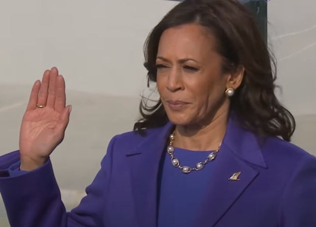 Kamala Harris, first female, WOC takes oath as VP