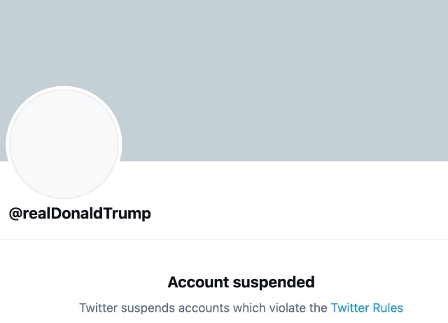 Twitter suspends Trump's account permanently