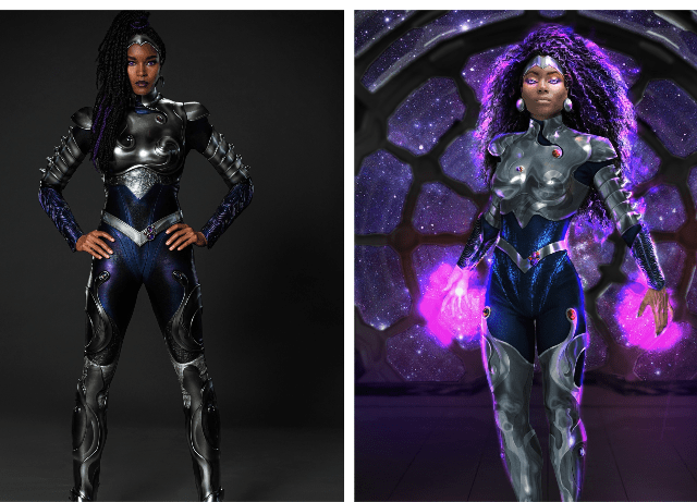 Titans reveals Blackfire supersuit