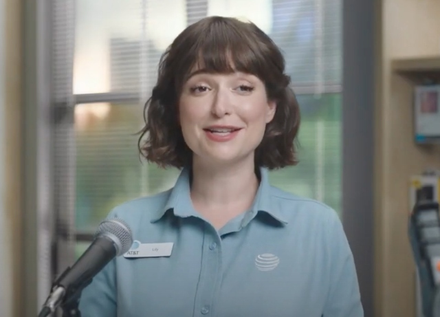 Lily is back for March Madness for AT&T