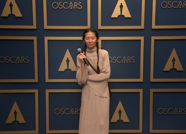 Chloé Zhao on winning, howling and more