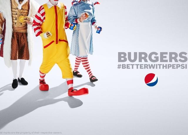 Pepsi Study: Signature burgers go better with Pepsi