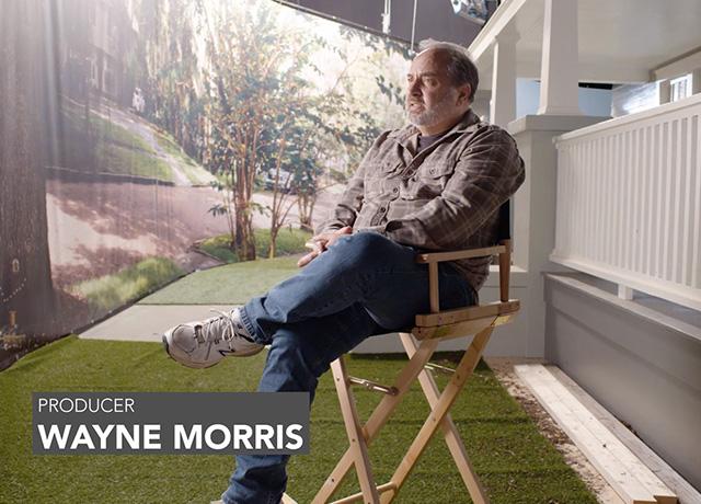 Producer Wayne Morris on set at Universal Studios FL