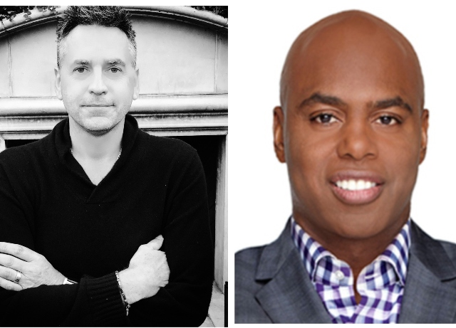 ET's Kevin Frazier, Access Hollywood's Tony Potts team