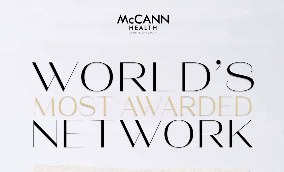 """McCann Health wins """"Most Awarded Network at Healthcare Awards"""