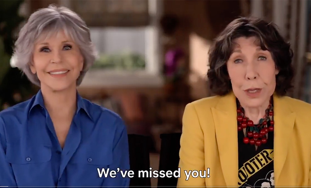 Exclusive set photos filming Season 7 of Grace and Frankie