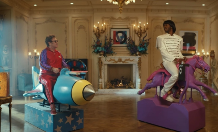 Elton John is skint and Lil Nas X questions it in hilarious Uber Eats campaign