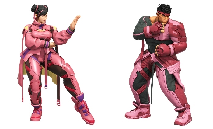 Street Fighter reveals new charity costumes to support Breast Cancer research