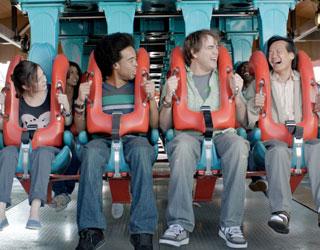 Oxytocin kills the fun in C-K amusement park spots