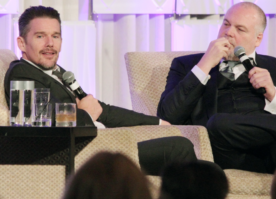 Ethan Hawke and Vincent D'onofrio onstage at the Ritz for the Siskel Center Renaissance Gala