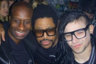 Lawrence with Felix da Housecat and Skrillex