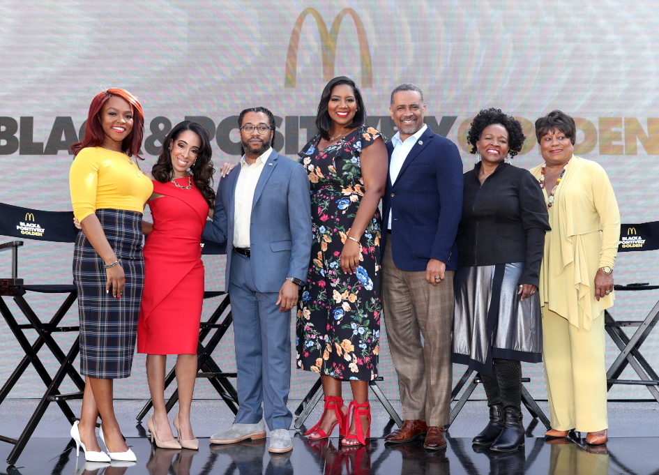 "McD's star-studded ""Black & Positively Golden"" launch"