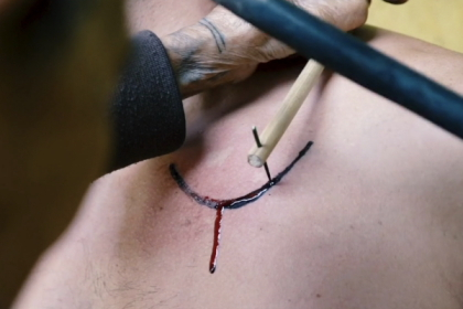 Dec gets a tribal tattoo in 'Food. Roots. Philippines.'
