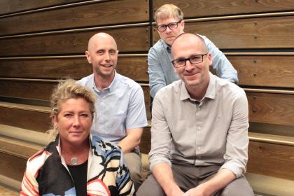 Alix Palmer, Peter Wiese, Brian Quarles, and Dan Lobring