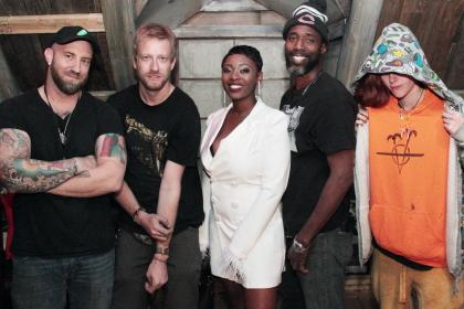 Beetle-building crew: Charles, AJ Tarzian, Sasha Holloway, TK, Kat