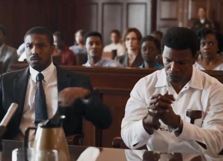 Michael B. Jordan and Jamie Foxx in 'Just Mercy,' directed by Destin Daniel Cretton