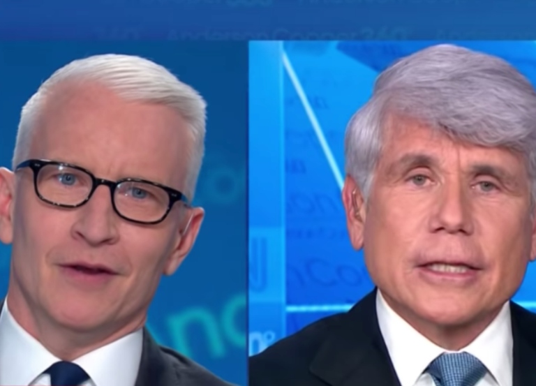 Yes, Anderson Cooper swore at Blagojevich on live CNN