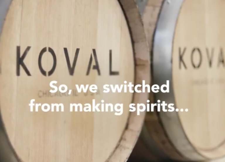 Utopic partners with KOVAL distillery for COVID-19 video