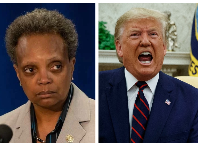"Mayor Lightfoot has two words for Trump – ""F U"""