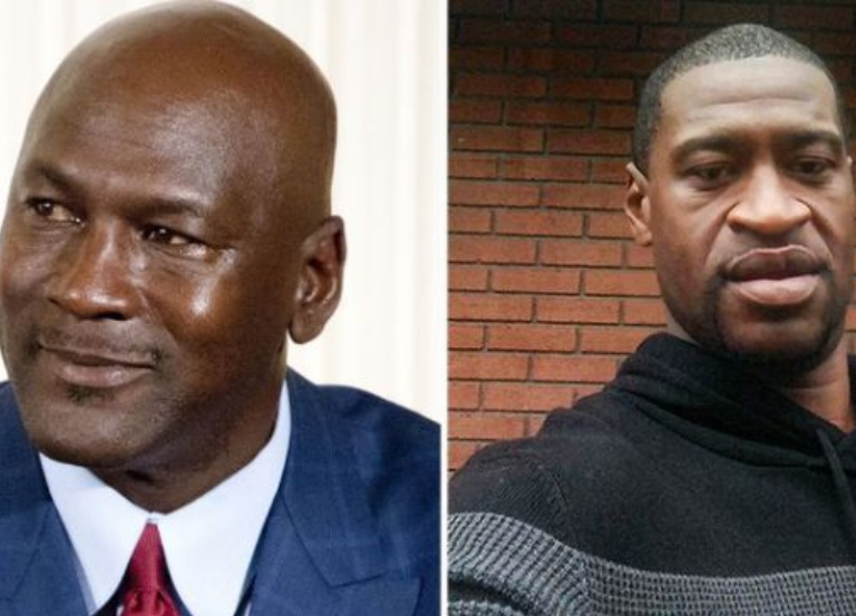 Michael Jordan reacts to the weekend's protests