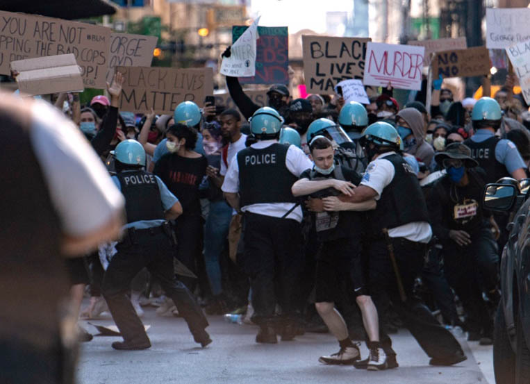 Chicago recovering from a weekend of violent protests