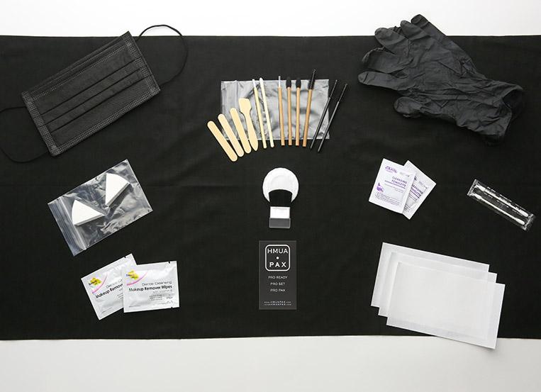 HMUA PAX designs hair and makeup disposable kits